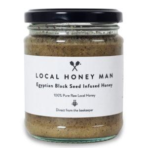 Black seed infused raw honey