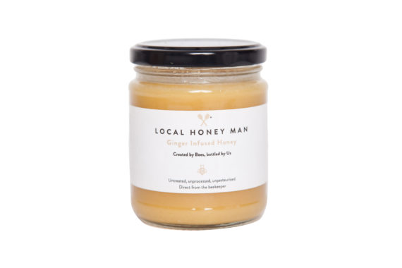 Ginger Infused Raw Honey