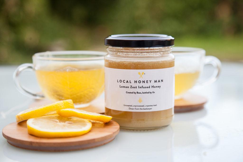 lemon infused raw honey